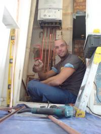 The face of a truely happy gas engineer!