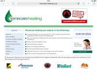 Homecare Heating website home page