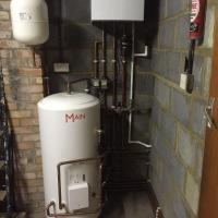 System boiler and unvented cylinder