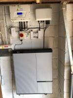 Solar PV inverter with high voltage battery