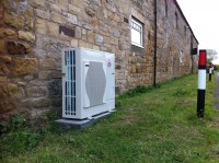 8.5KW Air source heat pump Alnwick Northumberland