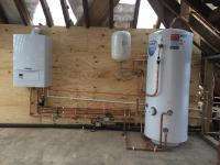 New Unvented cylinder & heating