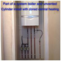 System boiler with zoned central heating