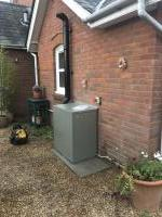 Exterior oil boiler install