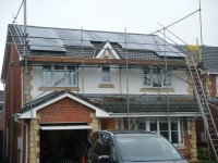 4.0 kWp Solar PV installation, using 16 x Hyundai HIS-S250MG Photovoltaic panels in Billingham, Middlesbrough, UK