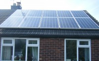 2.45 kWp Solar installation, using 10 x Suntech STP245S Solar electricity panels in Thelwall, Warrington, UK