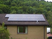 4 kWp of Sanyo Solar Modules in Scottish Borders