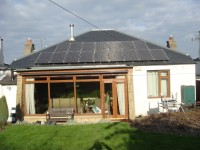 4.0 kWp Solar installation, using 16 x Sanyo HIT 250W Solar electricity panels in Edinburgh, Scotland