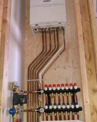 Valiant boiler with wavin underfloor manefold