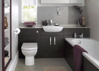Bathroom with furniture install