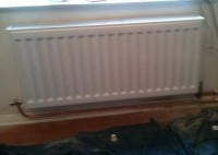 Shildon job radiators being installed