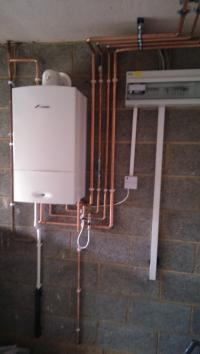 Worcester Bosch Garage Installation