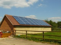 8 kWp on a garage