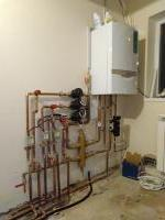 Completed heating installation with 3 different zones