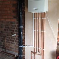 Boiler in a garage