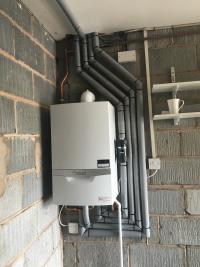 Vaillant 835 installed in garage