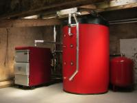 One of our log gasification boiler system installations