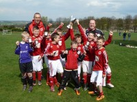 Homeco Energy Sponsored Barugh FC Under 9's win league and cup double.