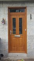Upvc light oak front door
