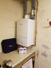 Worcester bosch installed in garage