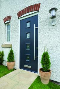 Modern 4 Square Door