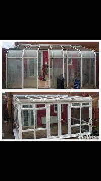 Before & after conservatory