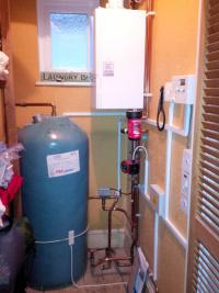 Heat only boiler installation