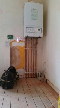 A new boiler installation