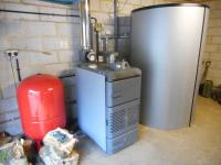 35kW Biomass Log Boiler installed in Surrey Bungalow