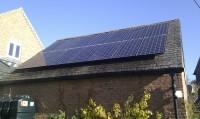 Midlands Solar 3.36kWp Sanyo HIT240 & Sunny Boy SB3000HF Inverter.