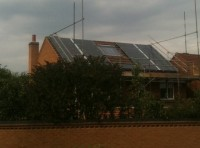 3.99 kWp Solar installation, using 21x Schott Mono 190 Solar electricity panels in Melton Mowbray, Leicestershire, UK