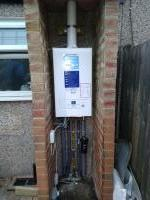 Baxi boiler installation outside of the building
