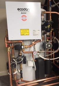 Mitsubishi Ecodan Air Source Heat Pump Pre Plumbed Cylinder