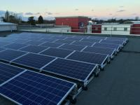 Flat roof solar system
