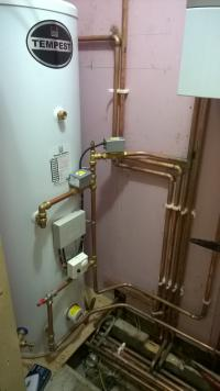 Install of full unvented hot water/heating system and boiler