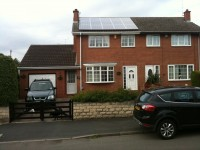2.78kWp 15 Panel Sharp Solar Photovoltaic Installation Worksop, Mansfield, UK