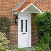 uPVC Door with Canopy