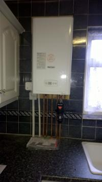 Budget straight swap boiler install for a landlords rental property