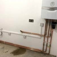 Combi boiler install.