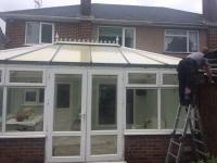 Here is the old plastic roof conservatory