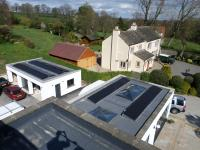 Flat roof solar PV installation