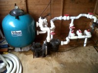Swimming Pool Filter pipework by LWL Heating