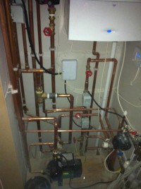 airing cupboard pipework