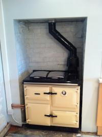 Gas Rayburn Installation, new firplace opening created and painted etc...
