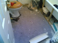 Didcot bathroom as work starts